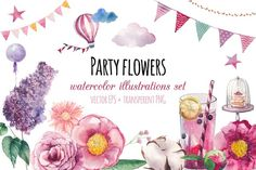 Party flowers - Illustrations - 1
