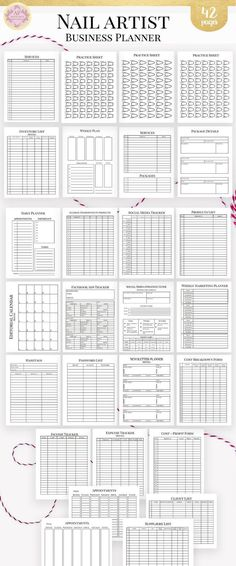 Makeup Artist Editable Business Planner and Manager, Business Finance and Management Printable Planner, Makeup Services - Number One Finance Portal 2019 Dave Ramsey, Small Business Plan, Business Help, Business Ideas, Printable Planner, Printables, Planners, Business Planner, Business Calendar