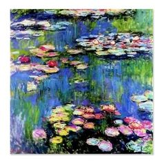 Claude MONET paintings featuring the Water-lilies in his Giverny water-garden pond. Picture, poster and print by Monet. Claude Monet, Monet Paintings, Impressionist Paintings, Artwork Paintings, Paintings Famous, Indian Paintings, Abstract Paintings, Landscape Paintings, Wow Art