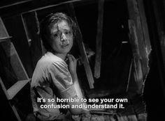 Through a glass darkly Poem Quotes, Lyric Quotes, Movie Quotes, Bergman Film, Ingmar Bergman, Cinema Quotes, Character Quotes, Dark Quotes, Film Stills