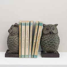 pair of owl book ends by the contemporary home | notonthehighstreet.com