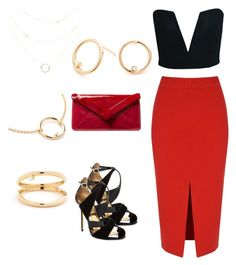 """""""The Fierce Vixen"""" by fatnerdyandproud on Polyvore featuring Glamorous, L.K.Bennett, Ted Baker, contestentry and jenchaexmejuri"""