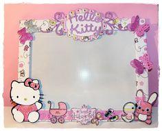 Hello Kitty Picture Frame   ... de la craft tanto el texto de Hello Kitty como la propia gatita