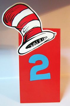 12 Dr Seuss Inspired Birthday Party Favor Candy Treat bag With Age on Etsy, $18.00
