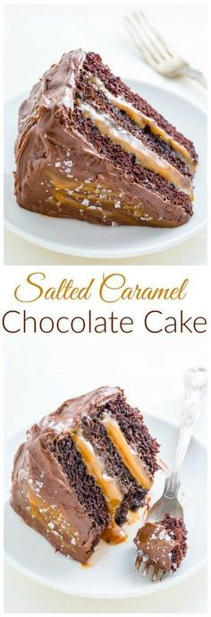 Whoa! This Salted Caramel Chocolate Cake is out of this world delicious and surprisingly simple to make!