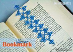 Free Tatting Pattern - Clover Bookmark