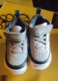 Air Jordan Flight Nike shoes 9.5 gray white BT toddler Size 4 child new #NikeJordan #Athletic