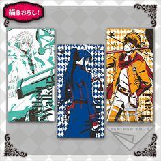 D.gray-man Hallow Bath Towel x3 100cm Allen Lavi Yu Illustration Anime NFS F/S