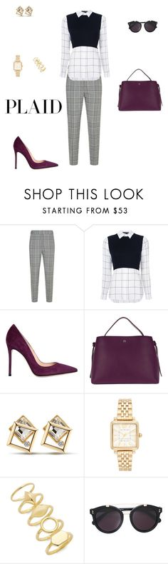 """Check it: Plaid"" by sebolita ❤ liked on Polyvore featuring Alexander Wang, Alice + Olivia, Gianvito Rossi, Etienne Aigner, Marc Jacobs, Chloé and STELLA McCARTNEY"