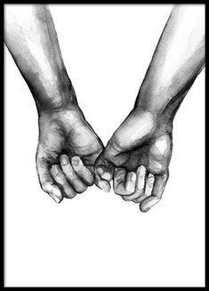Watercolor Hands No3 Poster