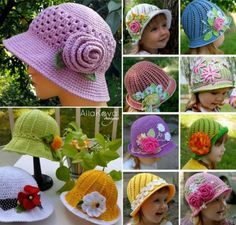Crochet Cloche Hats Free Patterns plus full English Pattern for the original Russian Pattern.