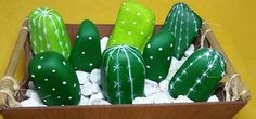 Saiba fazer pedras virarem lindos cactos decorativos (Juliana Brustolin/Blog do Elo7)