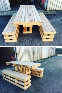 Pallet outdoor furniture ideas The post 43 Sharp Wood Pallet Side Table Ideas Sensod Create. appeared first on Pallet Diy. Pallet Furniture Designs, Pallet Garden Furniture, Outdoor Furniture Plans, Furniture Projects, Garden Pallet, Diy Furniture, Antique Furniture, Barbie Furniture, Rustic Furniture