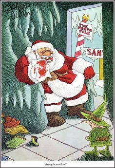 I write horror. I love horror, movies, comics and novels. I mainly write comics but also films, novels and video-games. Christmas Images, Christmas Art, Christmas Humor, Gahan Wilson, Bears Game, Wilson Art, Vintage Comics, Making Memories, Macabre