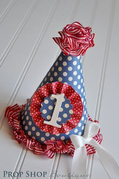 Vintage Carnival Birthday Party Hat by propshopboutique on Etsy, $26.00