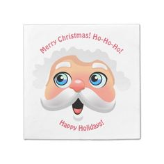 Happy Santa Claus Cartoon Paper Napkin