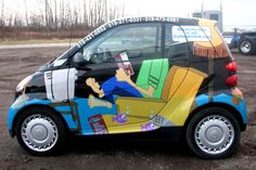 Vinyl-wrapped car for 100Things2Do.blogspot.ca Benz Smart, Smart Car, Vinyl Wrap Car, Smart Fortwo, Car Colors, Cute Cars, Big Love, Car Wrap, Electric Cars