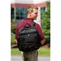 """Port Authority Signature Executive Briefpack    Abrasion-resistant ballistic nylon provides strength and durability over day-to-day use and throughout your travels. Outlasts regular polyester and nylon two to one. 70/30 ballistic poly/nylon 1680 denier Padded computer compartment Accordian file section Multiple organizational pockets Dimensions: 18""""w x 16""""h x 8""""d; Approx. 2,304 cubic inches"""
