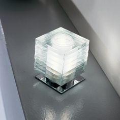 deMajo - Otto x Otto L - Lámpara de Sobremesa - transparente/vidrio/carcasa cromo