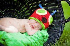 Hungry Caterpillar Crochet Beanie by MamaElfi on Etsy, $20.00