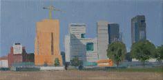 "Gineke Zikken ""Zuidas x 40 cm) Cityscapes, Amsterdam, Paintings, Art, Nostalgia, Art Background, Paint, Painting Art, Kunst"