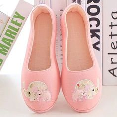 2016 Spring and Autumn, Floral elephant home confinement shoes, bags root women shoes, soft-soled shoes women