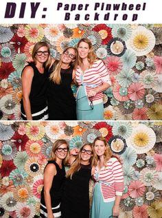 amorology: DIY: Paper Pinwheel Backdrop  #amorology #diy #backdrop #photobooth