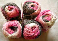 Alize Diva Batik Design Yarn with silk effect. Hypoallergenic Microfiber. €5.50, via Etsy.
