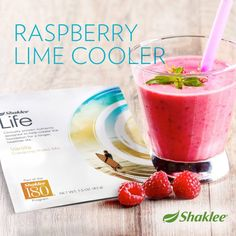 Delicious and nutritious!  2 scoops Vanilla Shaklee Life Energizing Shake 1 cup unsweetened vanilla coconut milk 1 cup frozen raspberries Juice of lime 1 lime 1 packet of sweetener (ex. Stevia) Blend all ingredients in blender until smooth. #Shaklee #Smootie #Raspberry
