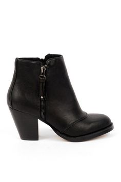 western booties black ankle boot