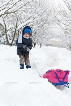 Little boy sledding in snow forest ...  activity, adorable, adventures, boy, caucasian, cheerful, child, childhood, cold, day, december, face, free, fun, gloves, happiness, happy, health, holiday, human, january, joy, kid, leisure, little, nature, one, outdoor, people, person, play, playful, recreation, scarf, season, sled, sledding, sledge, sledging, sleigh, small, smile, smiling, snow, sports, vacations, weather, white, winter, young