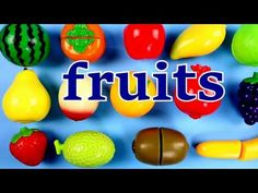 Velcro Fruits & Vegetables. Learn Names of Fruits & Vegetables. Velcro Toys. Toy Cutting Playset - YouTube
