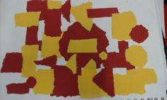 Compositie met rood en geel