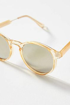 ccfe7f946a Anthropologie Avize Round Sunglasses - i love a clear frame for minimalist  looks for traveling light