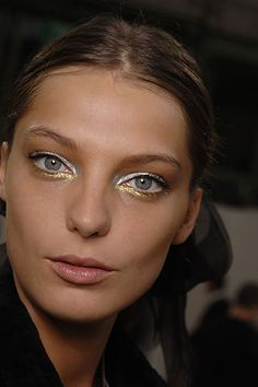 Double up on your metallics for this eye-popping look.