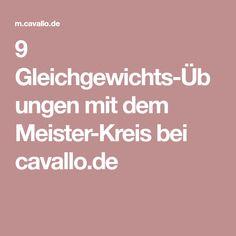 9 Gleichgewichts-Übungen mit dem Meister-Kreis bei cavallo.de