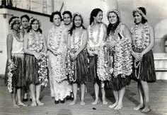 Hawaiian Lei and grass skirts Tiki Hawaii, Aloha Hawaii, Honolulu Hawaii, Vintage Tiki, Vintage Hawaii, Aloha Vintage, Vintage Travel, Cancun Hotels, Beach Hotels