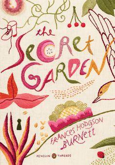 pretty embroidered book covers designed by jillian tamaki for penguin books.