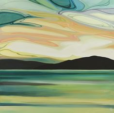 Canadian A Kelowna resident, Erica studied art and design at Colorado institute of art, finished up with design degree in Vancouver. Seascape Paintings, Landscape Paintings, Landscapes, Canadian Art, Canadian Painters, Naive Art, Abstract Landscape, Abstract Art, Painting Inspiration
