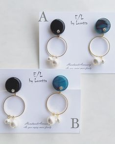 Circle W Perl pierce/earring | E/L byLoretta