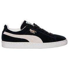 PUMA PUMA MEN'S SUEDE CLASSIC CASUAL SHOES, BLACK. #puma #shoes #