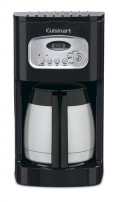 Cuisinart 10 Cup Thermal Programmable Coffeemaker with to Setting, Brew Pause Function, and Reset, Self Clean Functionality, Double-Wall Insulated Thermal Carafe Included >>> See this great image : Coffee Maker Coffee Maker Reviews, Best Coffee Maker, Drip Coffee Maker, Coffee Cups, Espresso Coffee, Coffee Png, Coffee Meme, Coffee Barista, Starbucks Coffee
