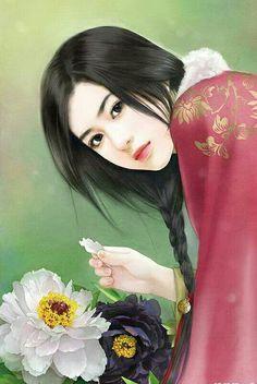 Chinese art girl fantasy painting techniques Ideas for 2019 Geisha, Art Anime Fille, Anime Art Girl, Anime Girls, Pop Art, Chinese Painting, Chinese Art, Fantasy Paintings, Fantasy Art