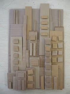 cardboard cityscape