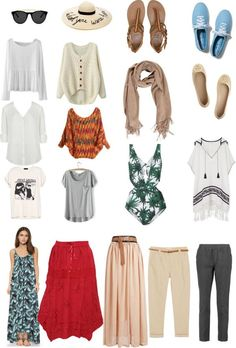 Super stylish packing list for Egypt. Helpful packing list if not sure what to wear in Egypt. Israel Travel, Egypt Travel, Travel Wardrobe, Capsule Wardrobe, Travel Outfit Summer, Summer Outfits, Marrakech, Travel Light, Luxor
