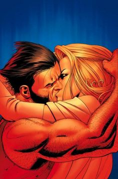 Comics Superheroic Kisses, Hugs... photo - Wolverine & Emma Frost