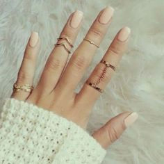 6pcs/Set Gold Silver Finger Ring Crystal Above Knuckle Stacking Band Midi Ring -- BuyinCoins.com