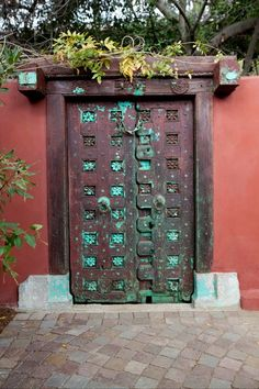 Beautifully crafted, antique Indian door used in one of my garden designs