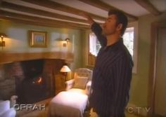 The vintage clip shows George Michael giving viewers a look inside his Goring-On-Thames home