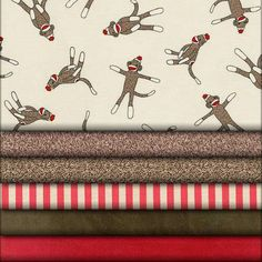 Sock Monkey fabric collection
